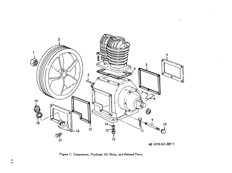 reciprocating air compressor part diagram