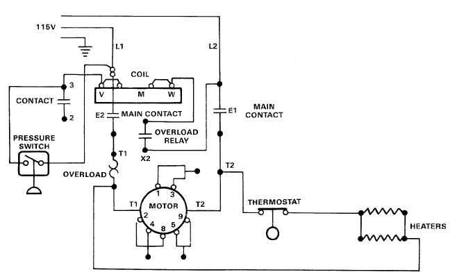 electric motor controls wiring diagrams  115v